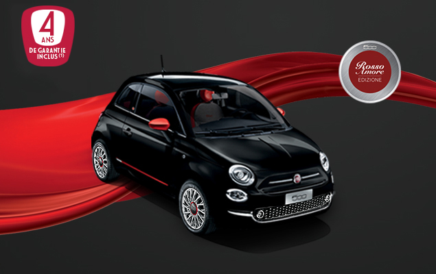 Fiat 500 Rosso Amore