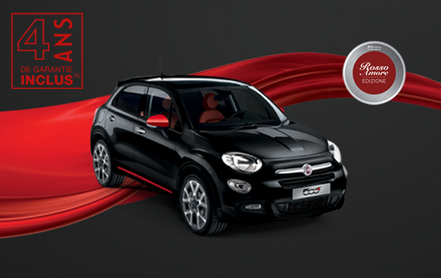 Fiat 500X Rosso Amore