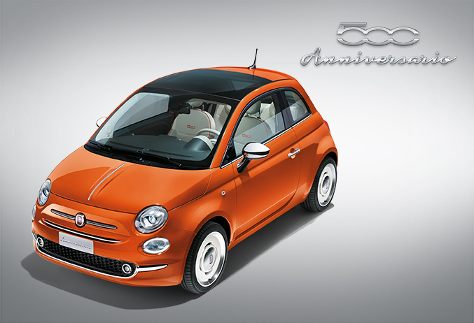 nouvelle fiat 500 anniversario 1 2 69ch. Black Bedroom Furniture Sets. Home Design Ideas