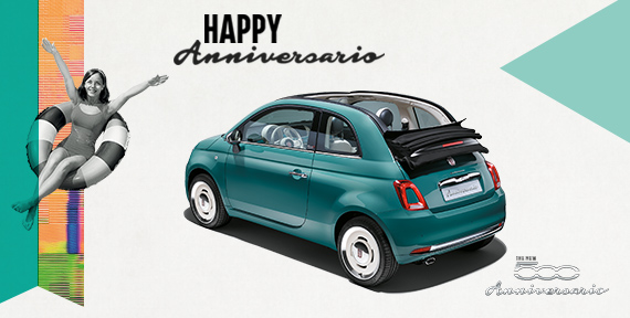 fiat 500 anniversario. Black Bedroom Furniture Sets. Home Design Ideas