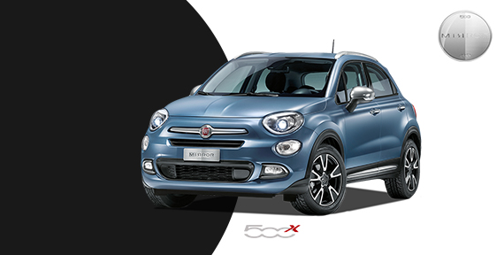 fiat 500x mirror suv sondermodell neuwagen angebote. Black Bedroom Furniture Sets. Home Design Ideas